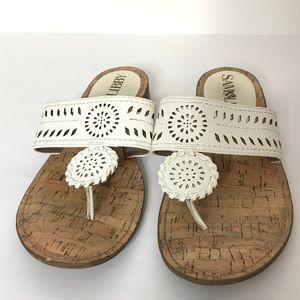"Sam & Libby Sandals Size 8 1"" Heel"